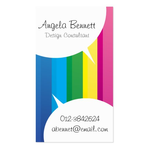 Speech Bubbles Rainbow Business Card