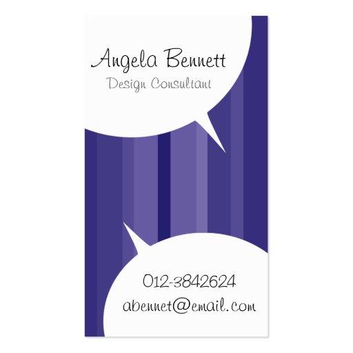 Speech Bubbles Violet Business Card