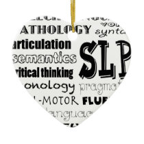 Speech Language Pathologist Ceramic Ornament