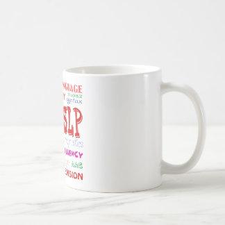 Speech Language Pathologist Colorful Fun Font Coffee Mug