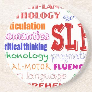Speech Language Pathologist Colorful Fun Font Drink Coaster