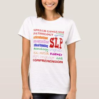 Speech Language Pathologist Colorful Fun Font T-Shirt
