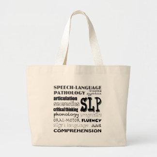 Speech Language Pathologist Large Tote Bag
