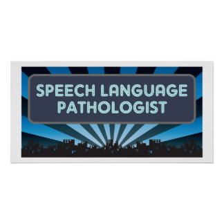 Speech Language Pathologist Marquee Poster