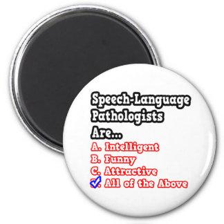 Speech-Language Pathologist Quiz 2 Inch Round Magnet