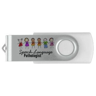 Speech-Language Pathologist USB Flash Drive Swivel USB 2.0 Flash Drive