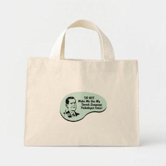Speech-Language Pathologist Voice Mini Tote Bag