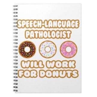 Speech-Language Pathologist . Will Work For Donuts Spiral Notebook