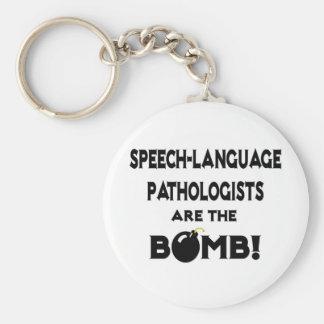 Speech-Language Pathologists Are The Bomb! Key Chains