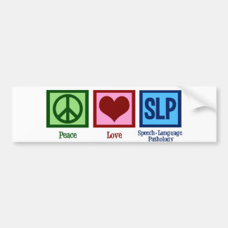 Speech Language Pathology Bumper Sticker