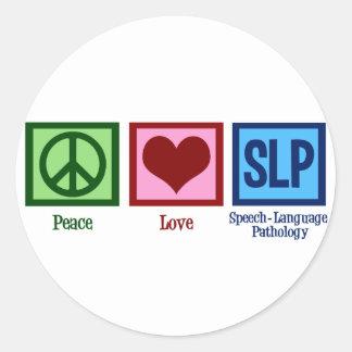 Speech Language Pathology Classic Round Sticker