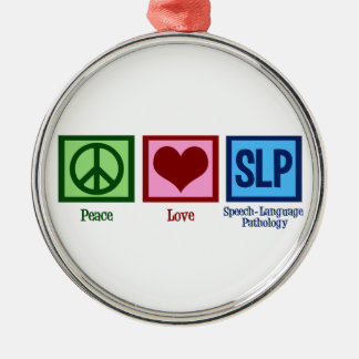 Speech Language Pathology Metal Ornament