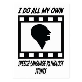 Speech Language Pathology Stunts Postcard