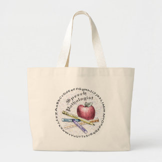 Speech Pathologist Large Tote Bag