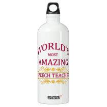 Speech Teacher Aluminum Water Bottle