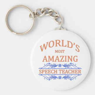 Speech Teacher Basic Round Button Keychain