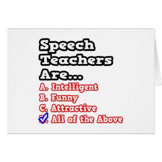Speech Teacher Quiz...Joke Cards