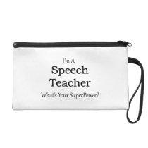 Speech Teacher Wristlet Purse