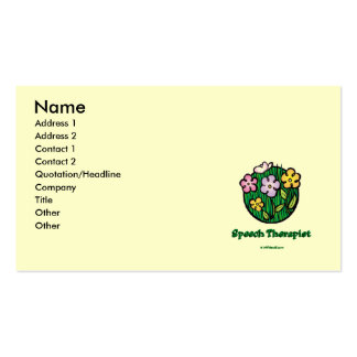 Speech Therapist Blooms1 Business Card Template