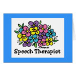 Speech Therapist Blooms1 Greeting Card