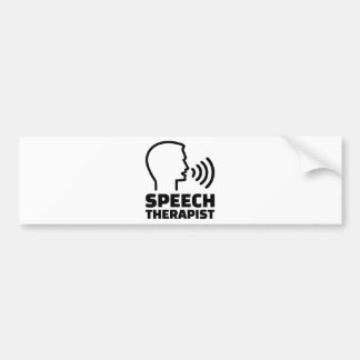 Speech therapist bumper sticker