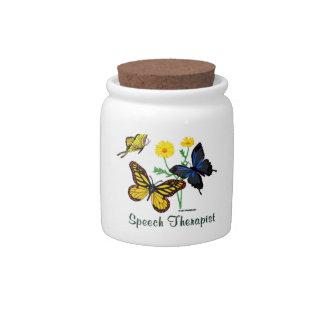 Speech Therapist Butterflies Candy Jars
