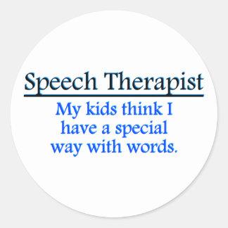 Speech Therapist Classic Round Sticker
