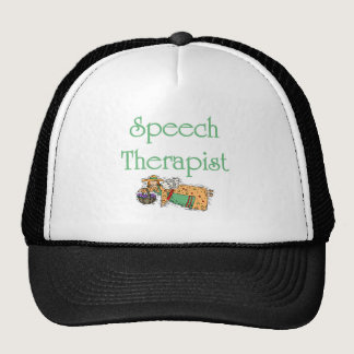 Speech Therapist hat with Angel.