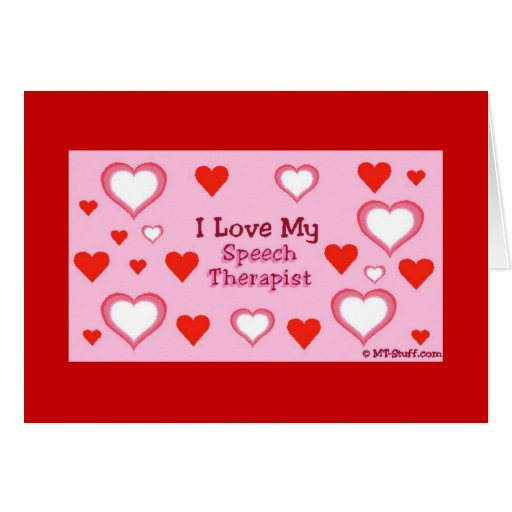 Speech Therapist Hearts Greeting Card