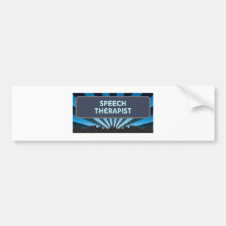 Speech Therapist Marquee Bumper Sticker