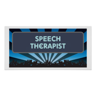 Speech Therapist Marquee Posters