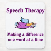 Speech Therapist Mouse Pad