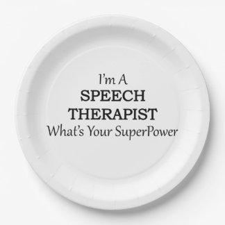 SPEECH THERAPIST PAPER PLATE