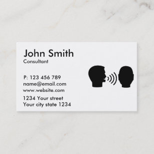 Speech therapy business cards zazzle speech therapist business card colourmoves