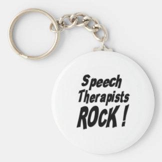 Speech Therapists Rock! Keychain