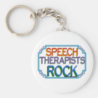 Speech Therapists Rock Basic Round Button Keychain