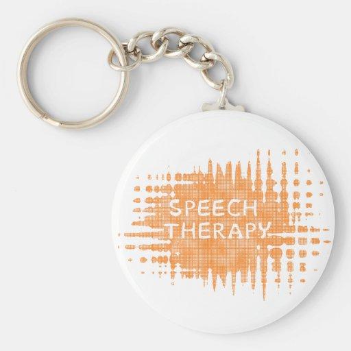 Speech Therapy Basic Round Button Keychain