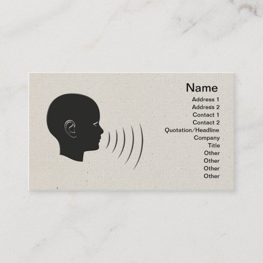 Speech therapy business card zazzle speech therapy business card colourmoves