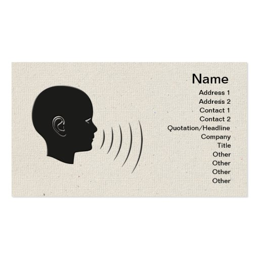 Speech Therapy Business Card Templates