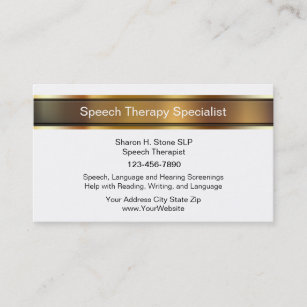 Speech therapy business cards templates zazzle speech therapy business cards colourmoves