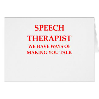speech therapy card