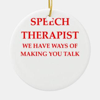 speech therapy ceramic ornament