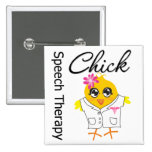 Speech Therapy Chick 2 Inch Square Button