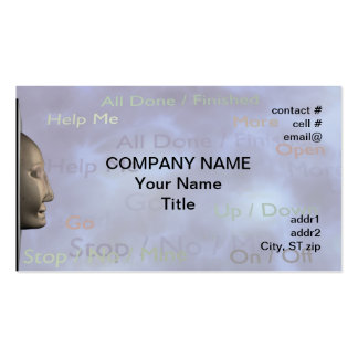 Speech therapy concept business card