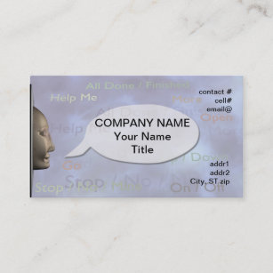 Speech Therapy Business Cards Zazzle