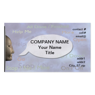 Speech therapy concept business cards