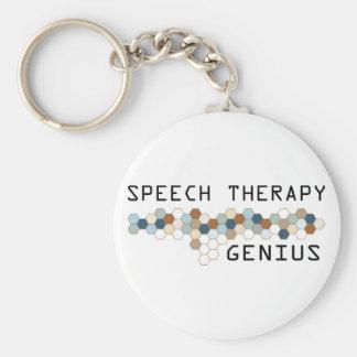 Speech Therapy Genius Basic Round Button Keychain