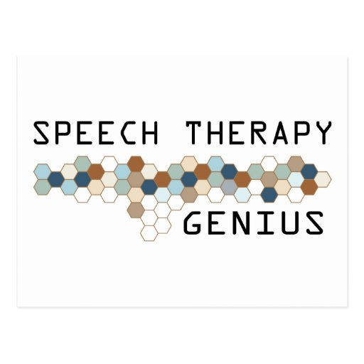 Speech Therapy Genius Post Cards