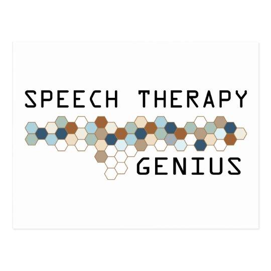 Speech Therapy Genius Postcard