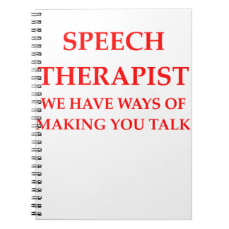 speech therapy notebook